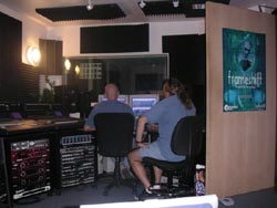 Henning and James LaBrie working on Frameshift